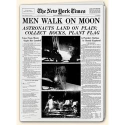 Men Walk on the Moon Historic NY Times Replica Newspaper