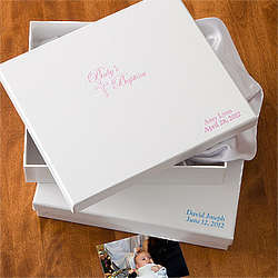 Personalized Baptism Keepsake Memory Box