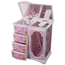 Girl's Upright Musical Ballerina Jewelry Box