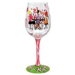 Girl's Night In Wine Glass