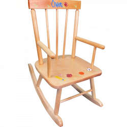Personalized Classic Natural Rocking Chair