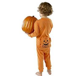Child's Personalized Pumpkin Long Johns