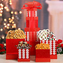 Peppermint and Popcorn Gift Tower