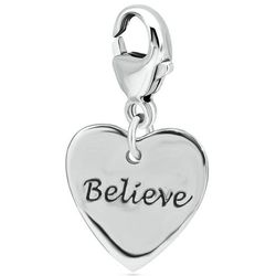 Engraved Believe Charm