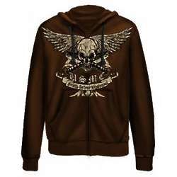 US Marine Corps Death Before Dishonor Brown Hoodie