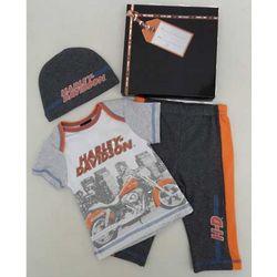 Newborn's Harley Davidson Shirt, Pants, and Hat