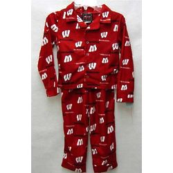 Boy's Wisconsin Badgers Flannel Pajamas