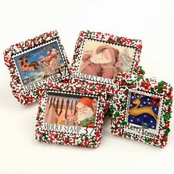 Merry Stamps Chocolate Covered Cookies