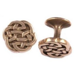 Polished Bronze Celtic Knot Cufflinks