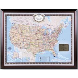 Framed and Personalized USA Traveler Map