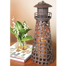 Metal Lantern Lighthouse Candle Holder