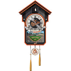 MLB Baltimore Orioles Cuckoo Wall Clock
