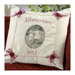 Victorian Memories Photo Accent Pillow