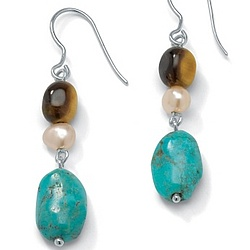 Tiger's-Eye Silver Earrings