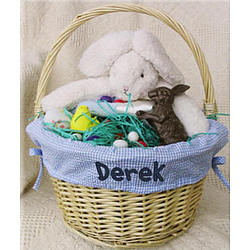 Personalized Lined Easter Basket