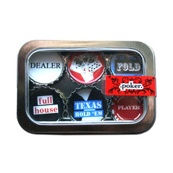 Poker Bottle Cap Magnets