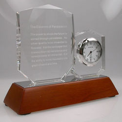 Choose Your Quote Crystal Clock Motivational Gift