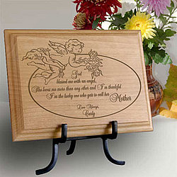 Personalized My Angel Mother Wooden Plaque