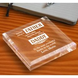 Personalized Father and Daddy Paperweight
