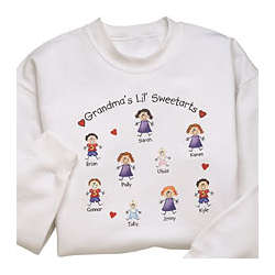 Personalized Grandma Little Sweetarts Sweatshirt
