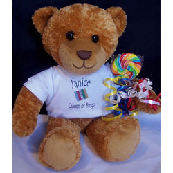Personalized Queen of Bingo Teddy Bear