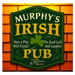 Pints and Friends Irish Personalized Pub Sign