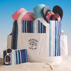 Just Married Beach Bag for Two