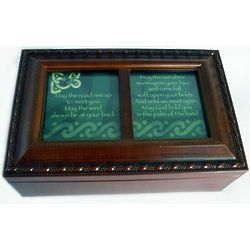 Irish Road Blessing Wood Music Box