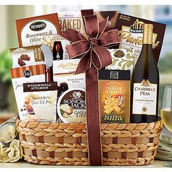 Crossridge Peak Chardonnay Bon Appetit Gift Basket