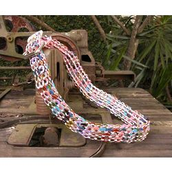 Multicolor Armor Chain Mail in Pink Soda Pop-Top Belt