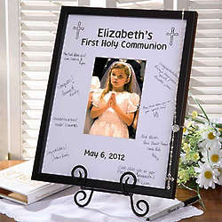 Personalized First Communion Signature Mat Frame