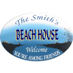 Beach House or Getaway Personalized Wall Sign