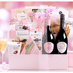 The Gourmet Gift Basket Featuring Hello Kitty Sparkling Wines