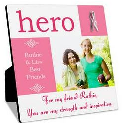 Breast Cancer Hero Personalized Photo Panel