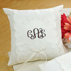 Personalized Monogram Elite Ring Pillow