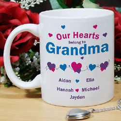 Our Hearts Personalized Valentine Coffee Mug