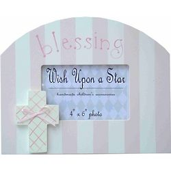 Girl's Wooden Blessings Frame