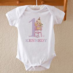 Baby's First Birthday Personalized Bodysuit