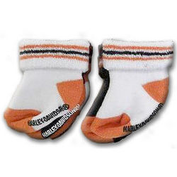 Harley Davidson Newborn Socks