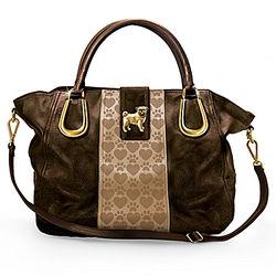 Faux Leather Pug Love Handbag