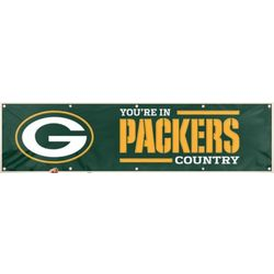 Applique and Embroidered Green Bay Packers Banner