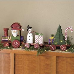 Handcrafted 3-Piece Wooden Christmas Train