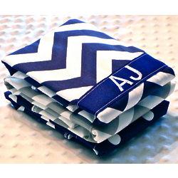 Personalized Baby Boy Burp Cloth Set