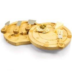 Poker Chip Cheese Board and Tool Set
