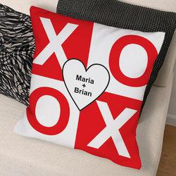XOXO Personalized Throw Pillow