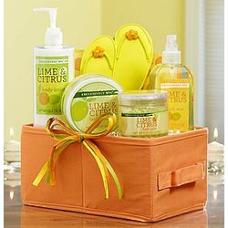 Lime and Citrus Spa Relaxation Gift Basket