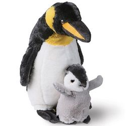 Penguin and Baby Stuffed Animal