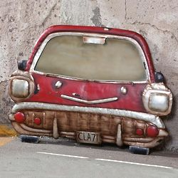 Distressed Vintage Car Mirror