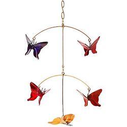 Copper Butterfly Garden Mobile