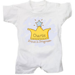 Personalized Prince T-Romper